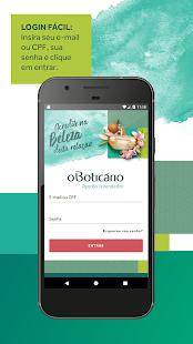 Cadastro aplicativo Boticário
