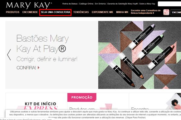 Como fazer cadastro na Mary Kay