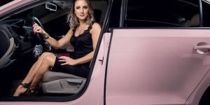 carro rosa da mary kay