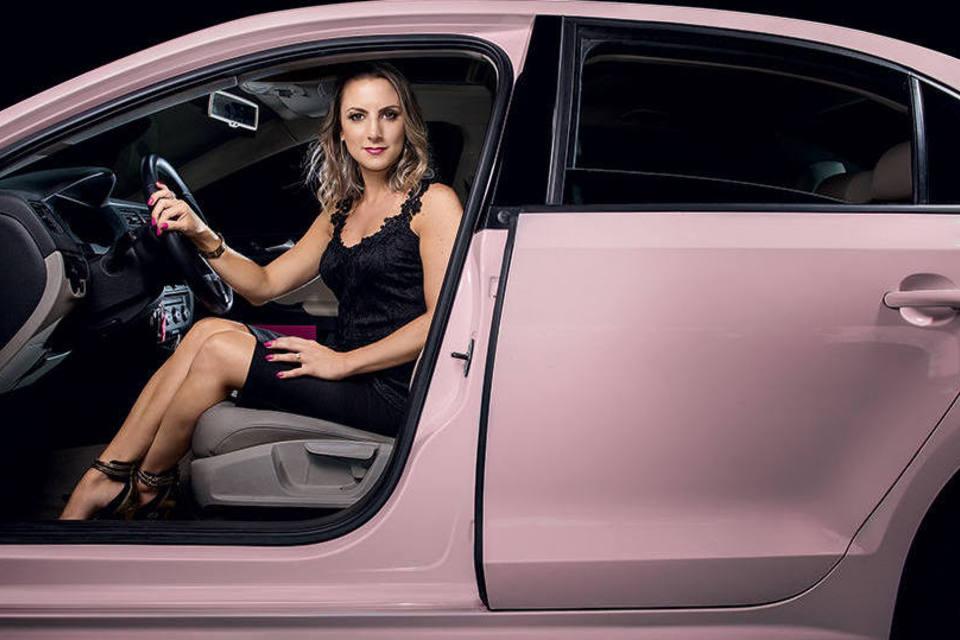 carro rosa da mary kay