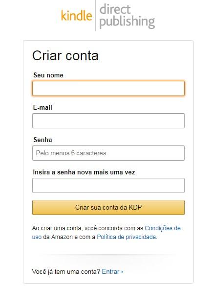 Como fazer cadastro na Amazon