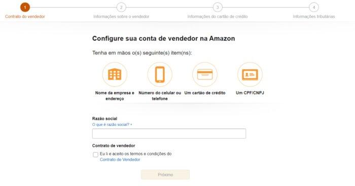 Cadastro de Produtos na Amazon
