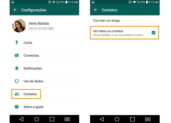 Contatos do Whatsapp