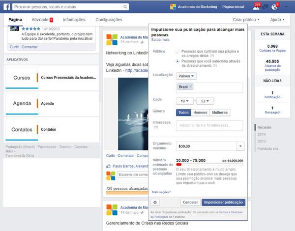 Como impulsionar produto facebook