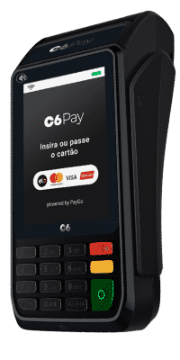 Máquina de cartão C6 Pay