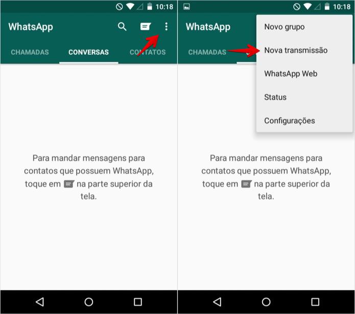Transmissão Whatsapp