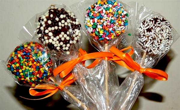 pirulitos de chocolate para páscoa