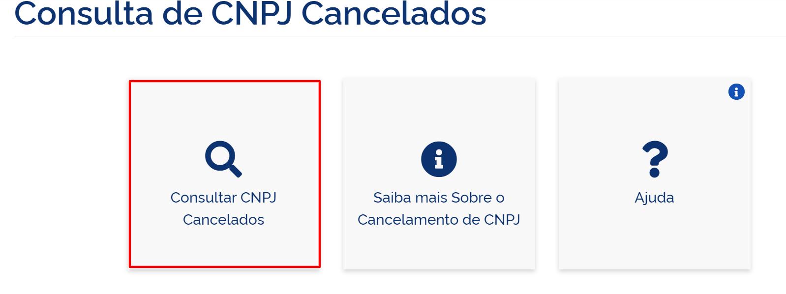 Como consultar CNPJ cancelado