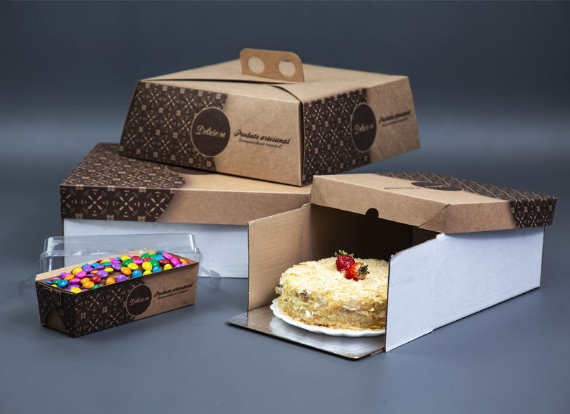 embalagens estilo caixa para vender bolo caseiro