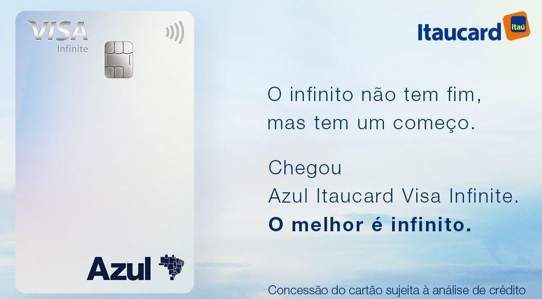Cartão de Crédito Itaudcard Azul Visa Infinite (Imagem: Divulgação/Itau)